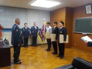 下田警察署長訪問