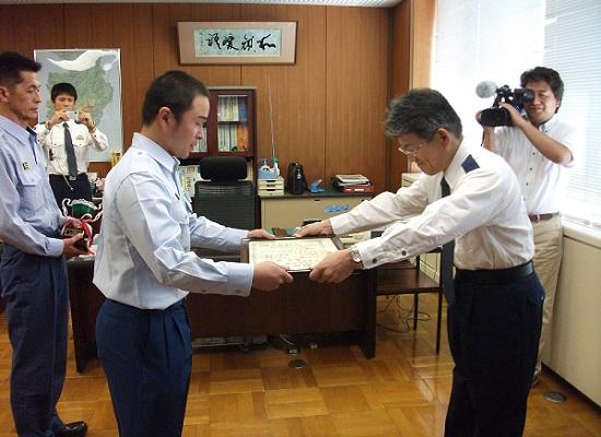 下田警察署長への報告